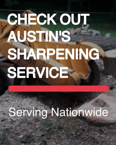 Stump Grinder Teeth Sharpening - Austin's Sharpening Services